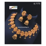 Special Ganesh Festival Collection ....Captivating Big Golden Koyari Single layered Necklace set!!