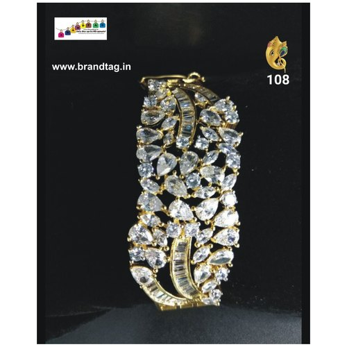 Christmas Collection !! Sparkling Diamond Kada Bracelet !!