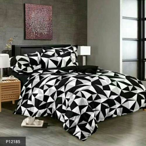 Black & White Bed Sheets with Pillow Cover!