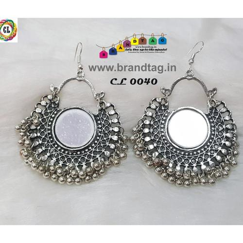 Attractive Silver Oxidized Earrings !