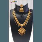Diwali Collection - Captivating Golden Necklace Set!