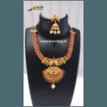 Diwali Collection - Pink Stones studded Golden Necklace Set!