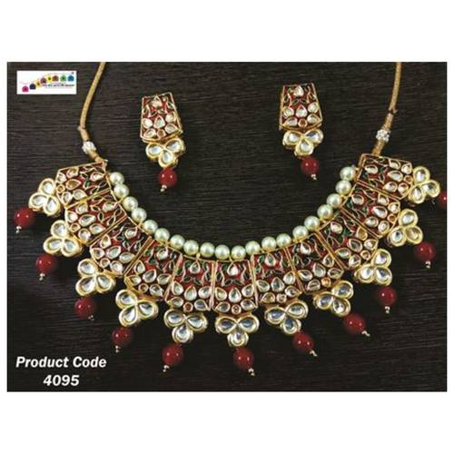 Mesmerizing, Uniquely Designed Round Shaped Beaded Necklace set !