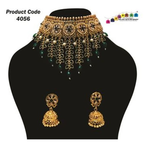 Beautifully Designed Triangular Shaped Beaded Necklace set !