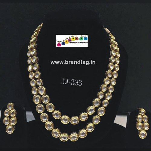 Royal elegan kundan necklace set...!!!