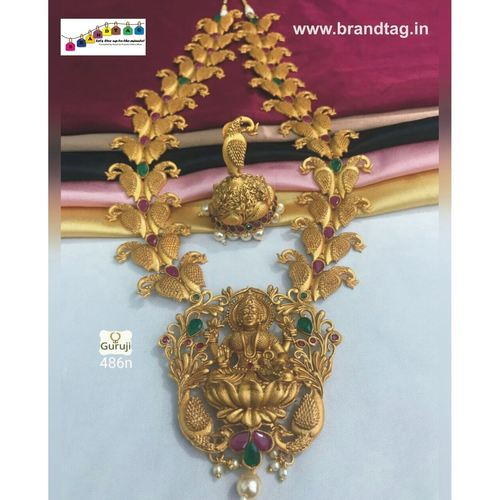 Mahalaxmi Golden Temple Necklace set!!