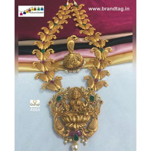 Mahalaxmi Golden Temple Necklace set!!