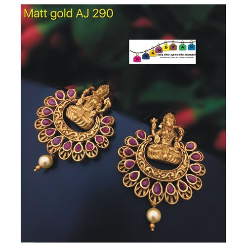 Matt Gold Temple Earrings!