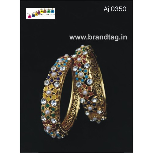Uniquely designed multi colored bangles