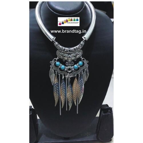 Contemporary Silver Oxidized Necklace!