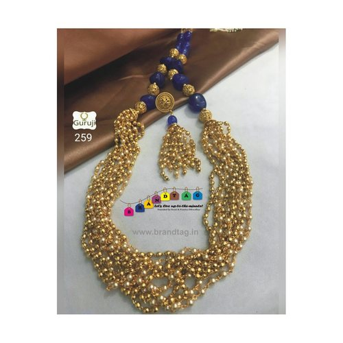 Exquisite Golden Mustard Long Necklace set!!