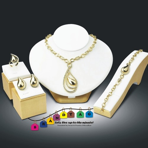 Special Teej Collection ! Contemporary yet Traditional Golden Necklace Set !