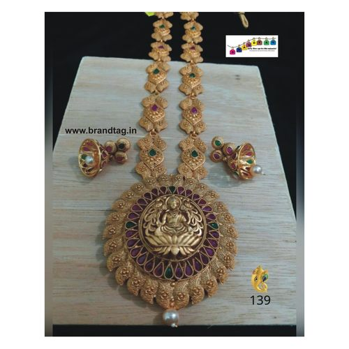 Finely Beautiful Baahubali Divine Temple Long Necklace Set!!!