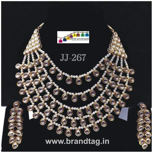 Special Raksha Bandhan collection!! Royal elegantl Kundan Necklace set....!!!