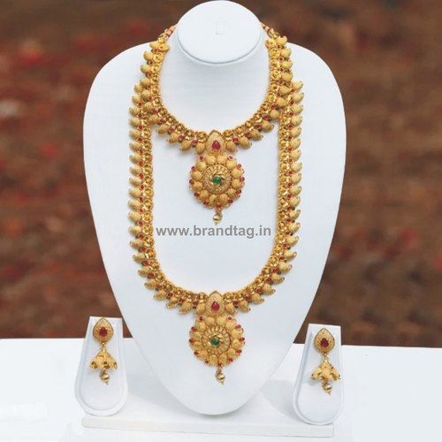 Traditional Indian Bridal Golden Necklace set !