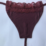 Maroon wit Lace - Special Offer