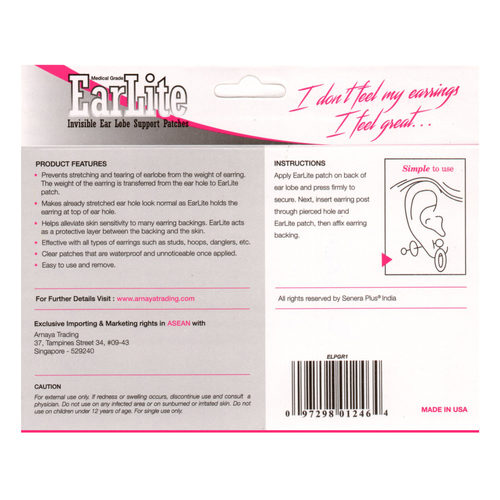EarLite 10 Patches Travel Pack