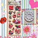 3d Collage Stickers & Palette for Painting