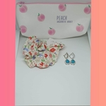 Set of Pouch Case, Scrunchie and Earrings