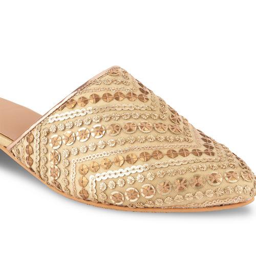 Golden Sequins Mules