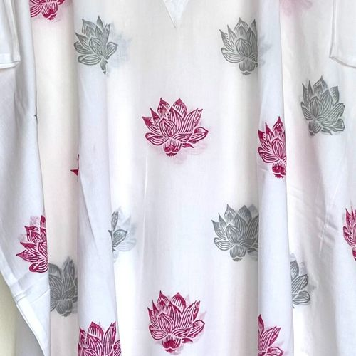 Pink River Lotus Kaftan