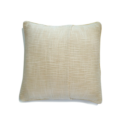 WHITE HANDLOOM CUSHION COVER (16inches*16inches)