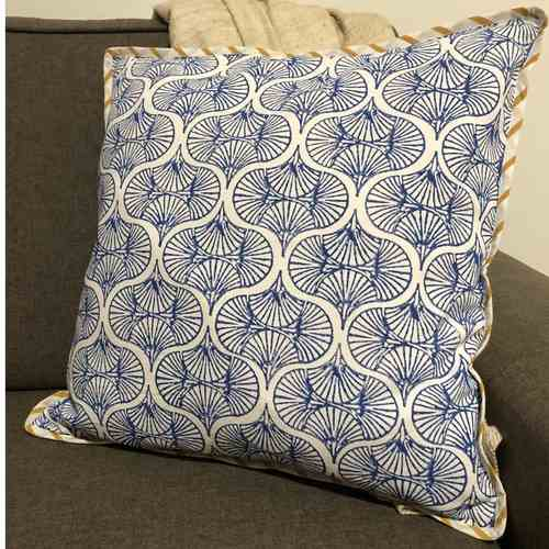 Double Sided Cushion Covers - Mustard and Blue
