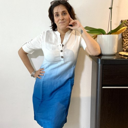 Dip-Dyed Linen dress