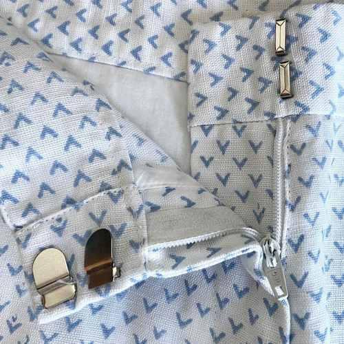 Blue V Design shorts