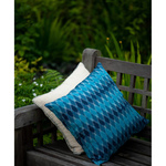 Ikkat Cushion cover - Blue green