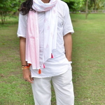 Pink and Orange Cotton Stole