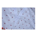 Red & Grey dot kaftan with tassels