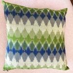 Ikkat Cushion cover - Blue green