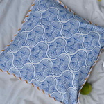 Double Sided Cushion cover - Blue and Mustard 1818in