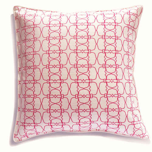 PINK JAALI OUTLINE CUSHION COVER (21inches*21inches)