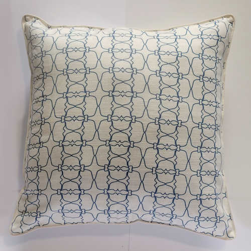 BLUE JAALI OUTLINE CUSHION COVER (21inches*21inches)