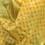 Fresh yellow chanderi dupatta having block print done
