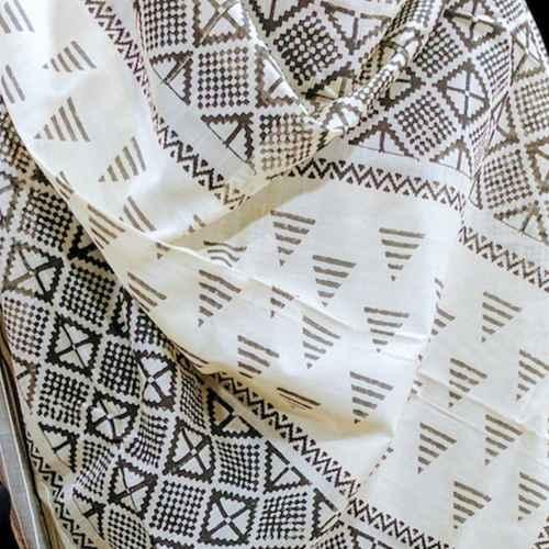 SOLD   Block printed pearl mangalgiri dupatta