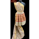 Ivory cotton resham hand-weaved saree  SOLD