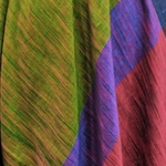 Forest green khadi saree