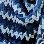 Block printed Indigo chanderi dupatta   SOLD