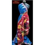 Royal blue bengal raw silk saree with jamdani pallu