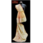 Handwoven bengal cotton silk saree in shades of Ivory  SOLD