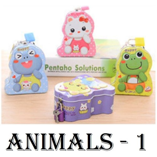 Animal Coin Bank Set - with Snacks and Customized Tag