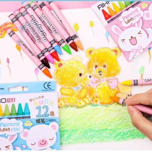 Colouring Book + Mini Crayons + Customized Sticker