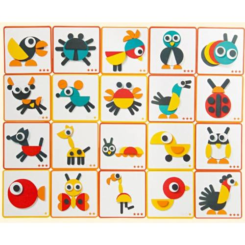 Montessori Animal Blocks Jigsaw Puzzle