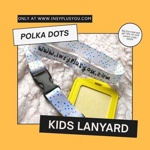 Kids Lanyard - POLKA DOTS