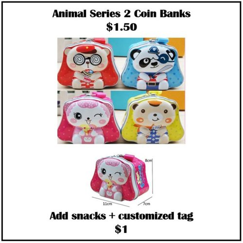 Animal Series 2 Coin Banks