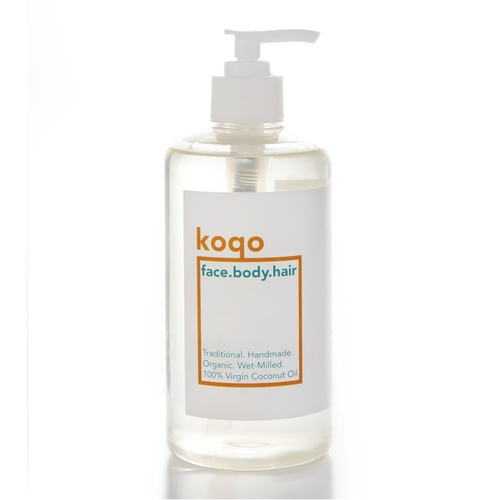 koqo All-In-One Handmade & Wet-milled 100% Virgin Coconut Oil (500ml pump) - Best Value!
