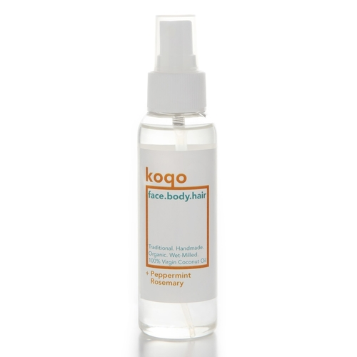 koqo face.body.hair Handmade & Wet-milled Coconut Oil + Peppermint & Rosemary 100ml Spray